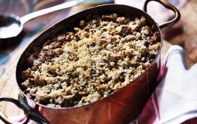 FISH PIE WITH SPELT CRUMBLE