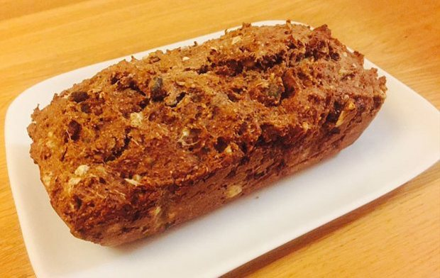 BANANA BREAD WITH BRAN AND SEEDS