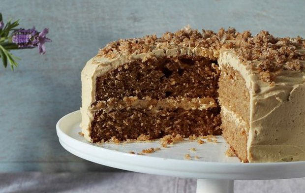 WALNUT & COFFEE CAKE WITH STREUSEL TOPPING