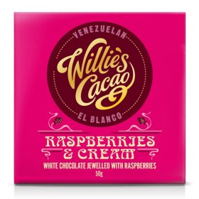 Willies Cacao -  Raspberries & Cream - 50g