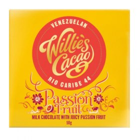 Willies Cacao - Milk Chocolate With Juicy Passion Fruit - 50 g